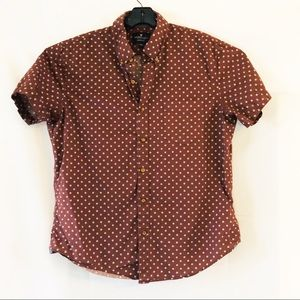 American Eagle Outfitters maroon casual button up
